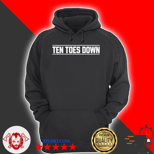 Ten toes down merch ten toes down s hoodie