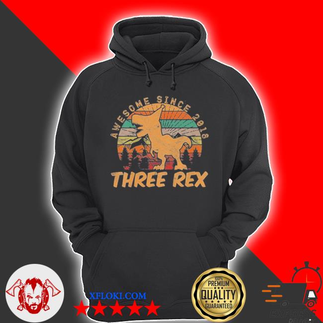 Awesome since 2018 three rex vintage s hoodie