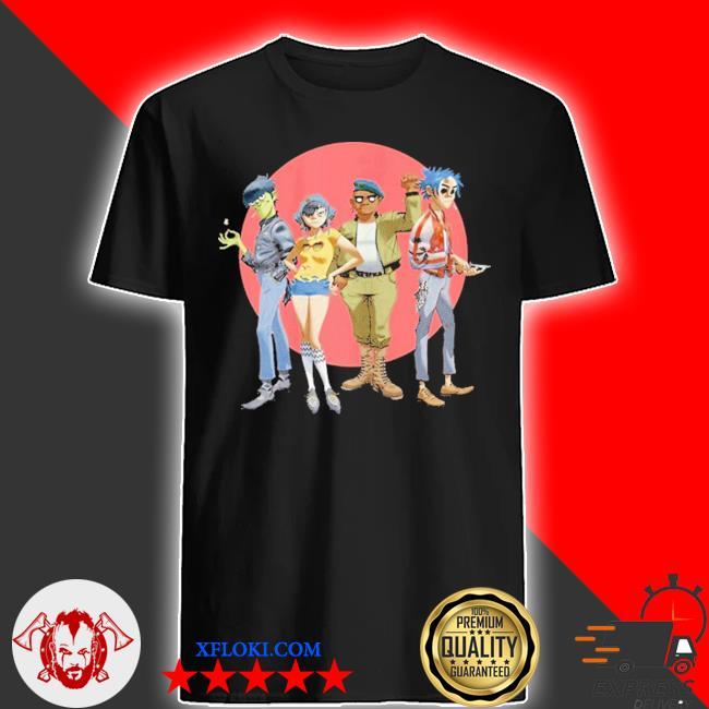 Gorillaz group circle rise shirt