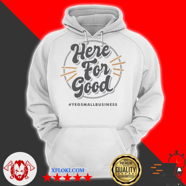 'here for good' gray s hoodie