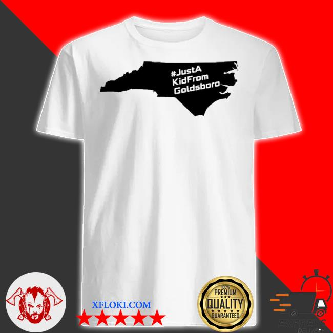 Just a kid from goldsboro nc map shirt