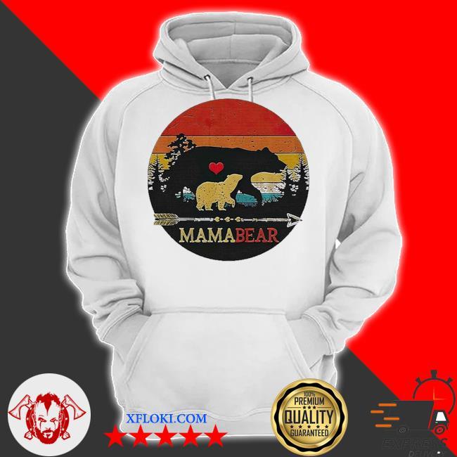 Mama bear vintage sunset s hoodie