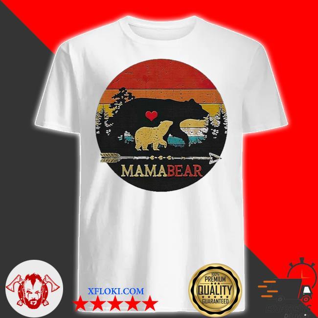 Mama bear vintage sunset shirt