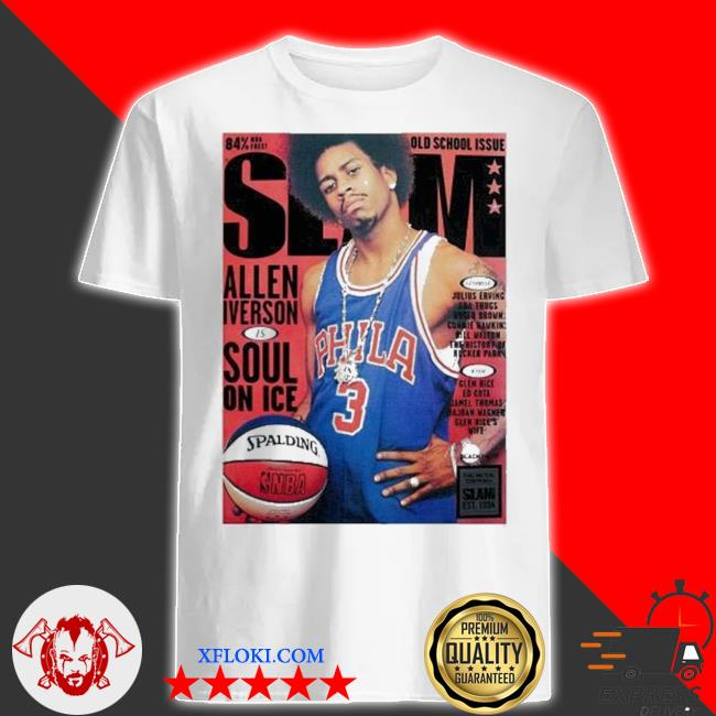 Old school issue slam allen iverson soul on ice shirt