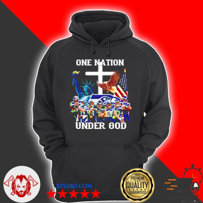 One nation under god seattle seahawks signatures s hoodie