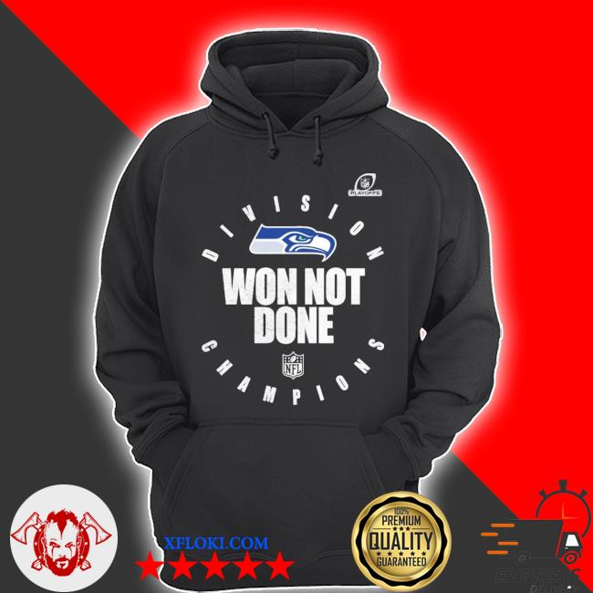 Seahawks nfc west champions we not done s hoodie