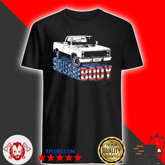 Squarebody truck flag us shirt