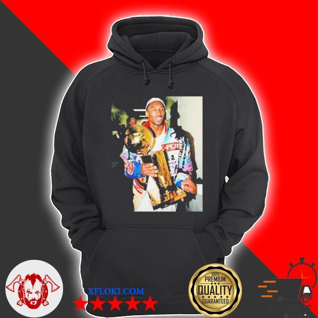 Vintage kobe bryant after winning title s hoodie