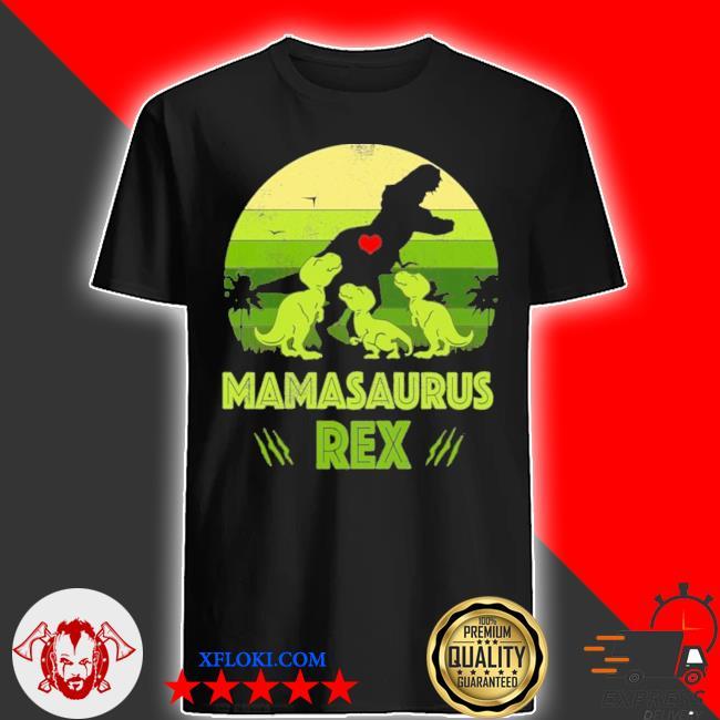 Vintage retro 3 kids mamasaurus dinosaur vintage shirt