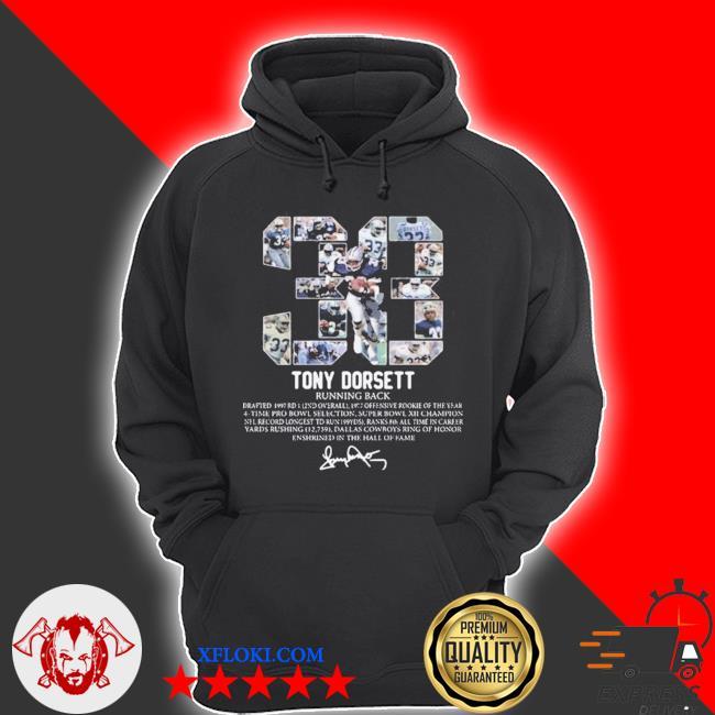 33 tony dorsett running back signature s hoodie