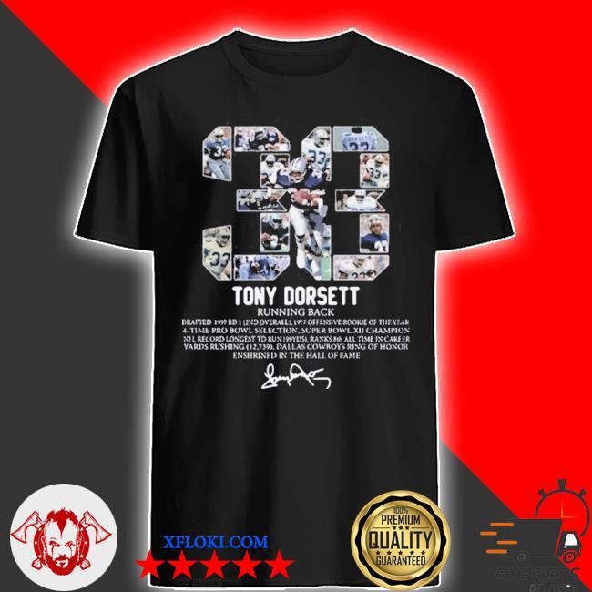 33 tony dorsett running back signature shirt