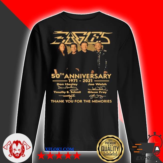 50th anniversary 1971 2021 don henley Joe walsh timothy b. schmit scott crago signature s sweater