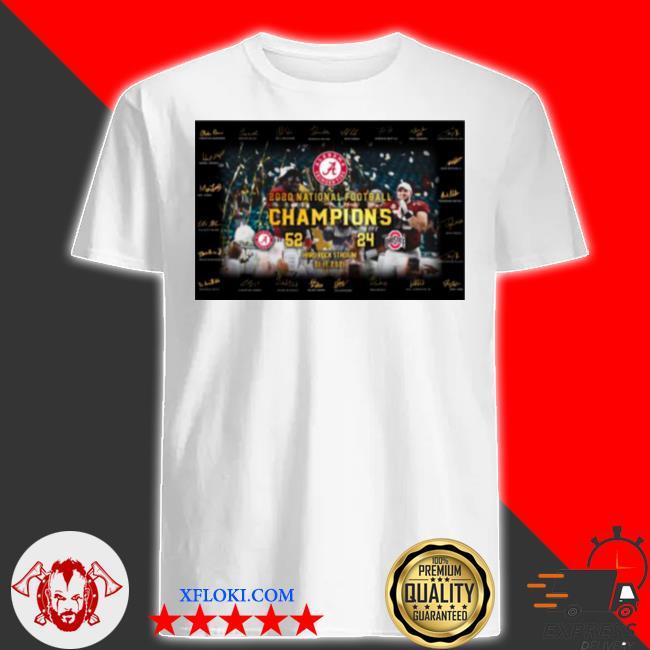 Alabama crimson tide cup 2020 national champions 52 24 ohio state buckeyes signatures shirt