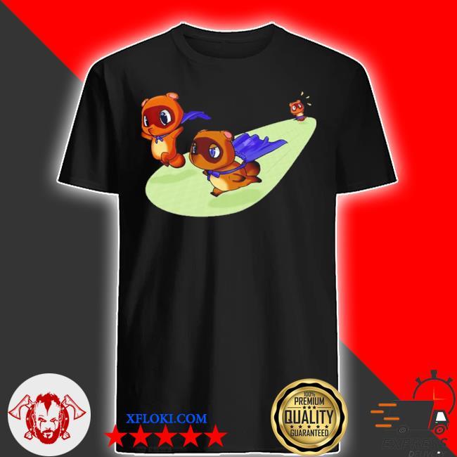 Animal crossing new leaf tom nook gamecube nintendo 64 blacks cute shirt