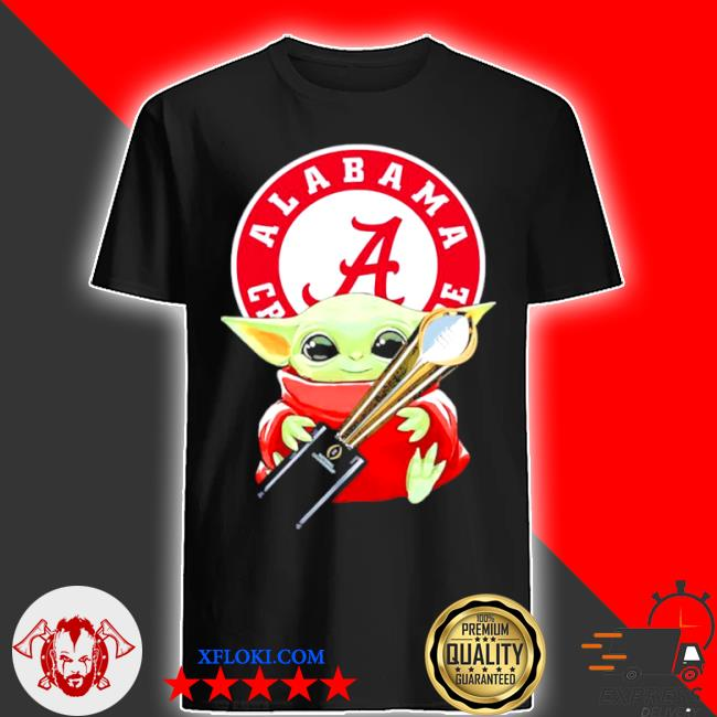 Baby Yoda hug alabama crimson tide shirt