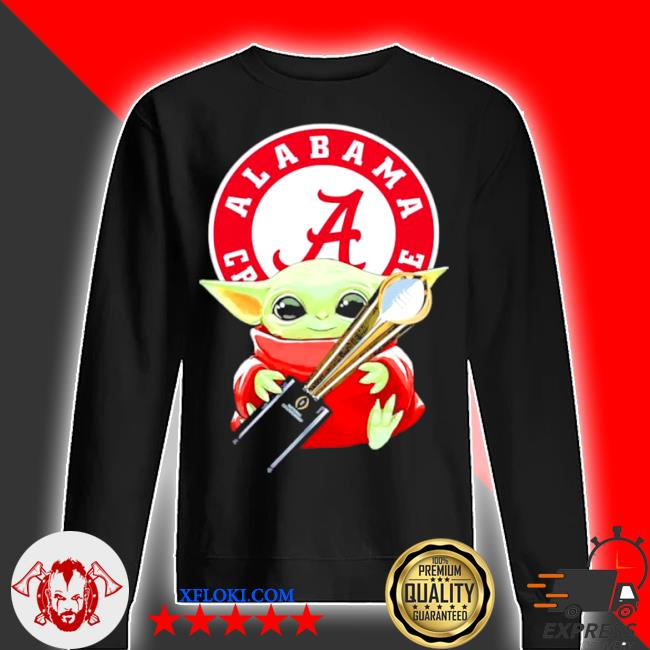 Baby Yoda hug alabama crimson tide s sweater