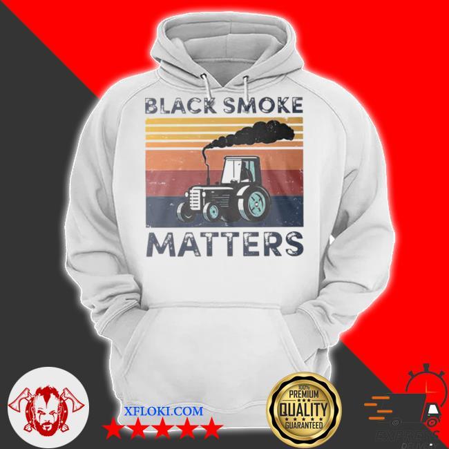 Black smoke matter vintage s hoodie