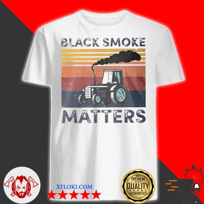 Black smoke matter vintage shirt