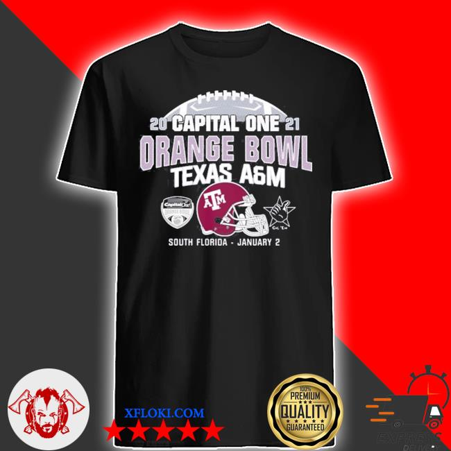 Capital one 2021 orange bowl Texas a&m shirt