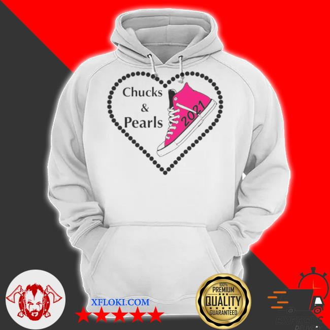 Chucks and pearls teacher vintage valentines day 2021 s hoodie