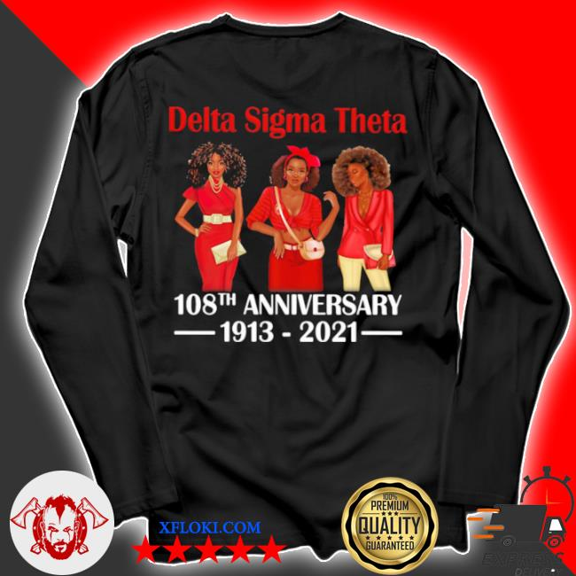 Delta sigma theta 108th anniversary 1913 2021 wear clothes red s longsleeve