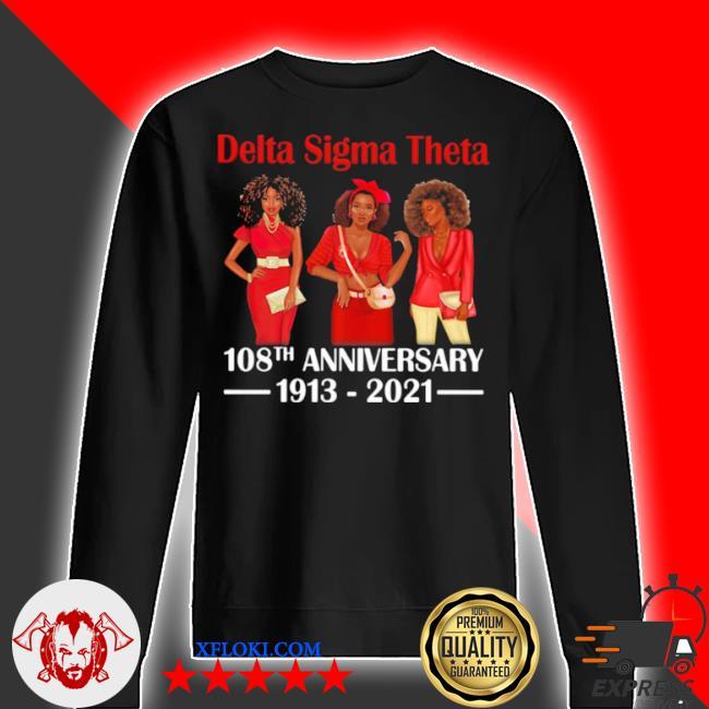 Delta sigma theta 108th anniversary 1913 2021 wear clothes red s sweater