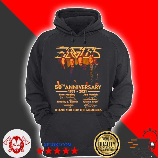 Eagles 50th anniversary 1971 2021 thank you for the memories s hoodie