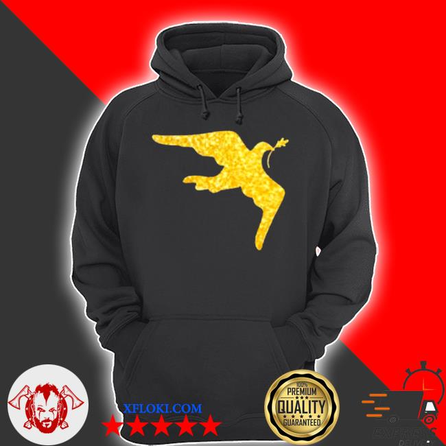 Inauguration outfit gold dove brooch s hoodie