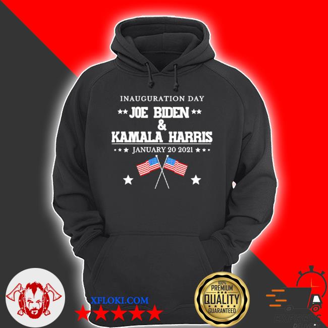 Joe Biden and Kamala Harris inauguration day 2021 retro American flag s hoodie