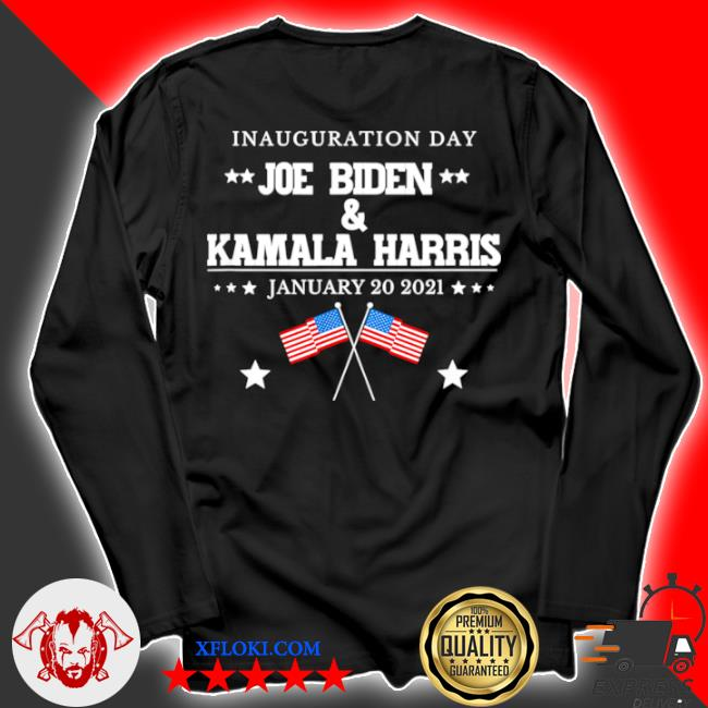 Joe Biden and Kamala Harris inauguration day 2021 retro American flag s longsleeve