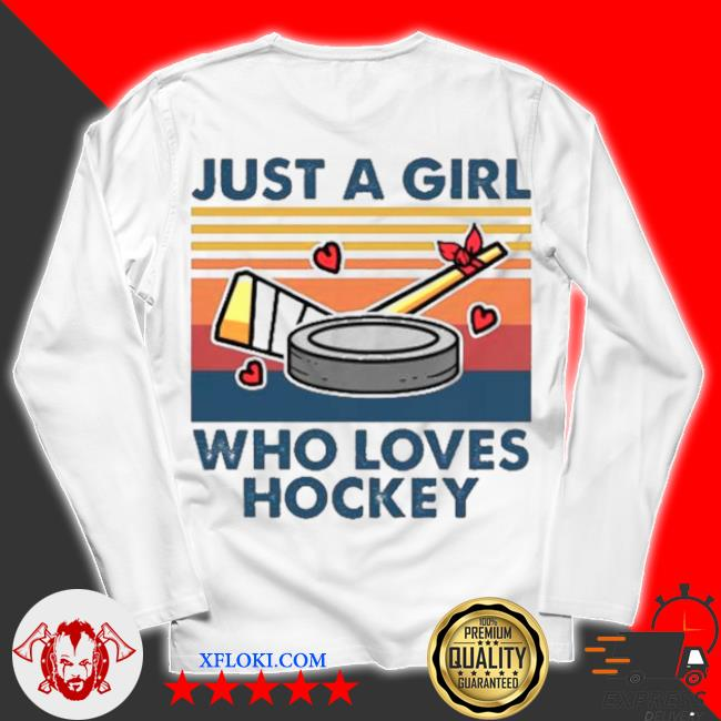 Just a girl who loves hockey vintage s unisex longsleeve