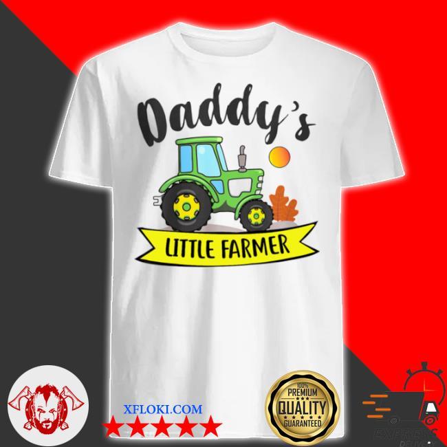 Kids daddys little farmer agrimotor country farm girls boys shirt