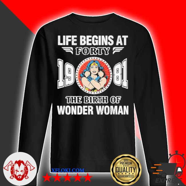 Life begins at forty 1981 the birth of wonder woman s sweater