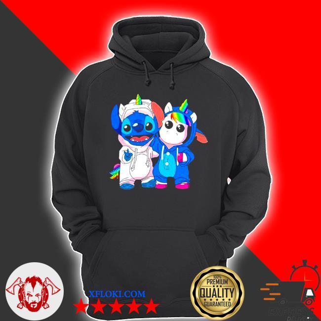 Lilo and stitch with unicorn 2021 s hoodie