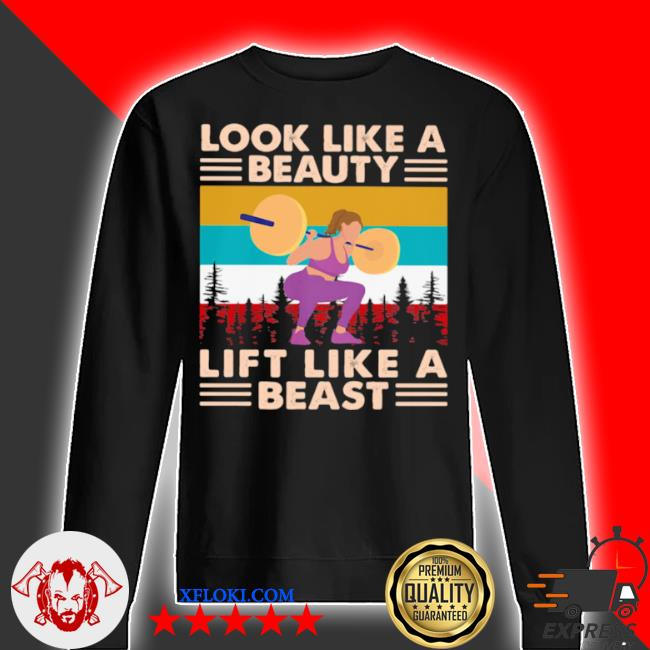 Look like a beauty lift like a beast weight lifting vintage s sweater