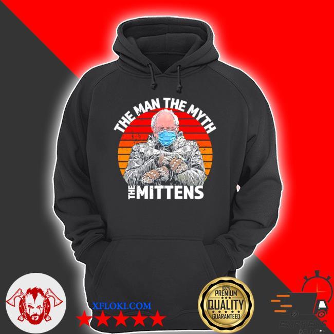 Man myth mittens funny inauguration bernie sanders meme s hoodie