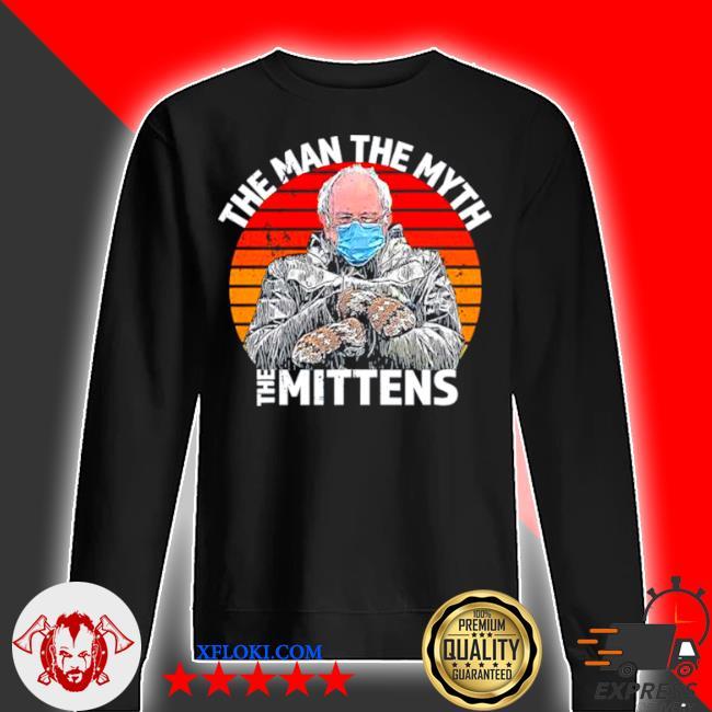 Man myth mittens funny inauguration bernie sanders meme s sweater