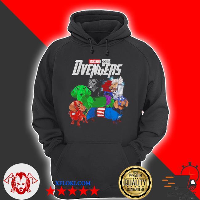 Marvel dachshund dvengers 2021 s hoodie