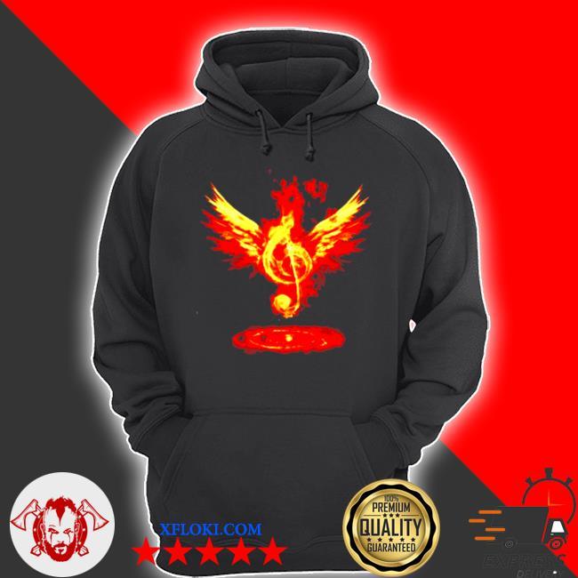 Music note fire angel s hoodie