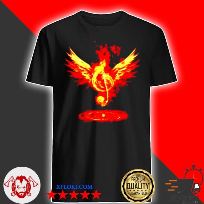 Music note fire angel shirt