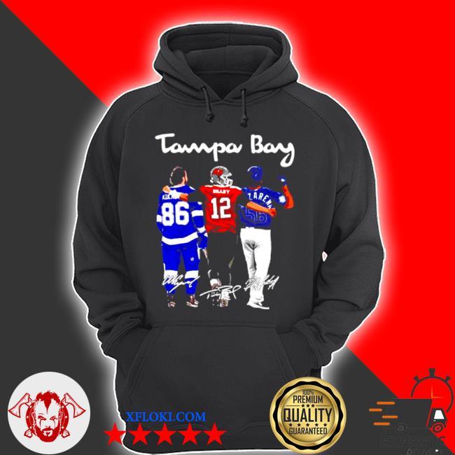 Tampa bay nikita kucherov Tom Brady and randy arozarena fiends signature s hoodie
