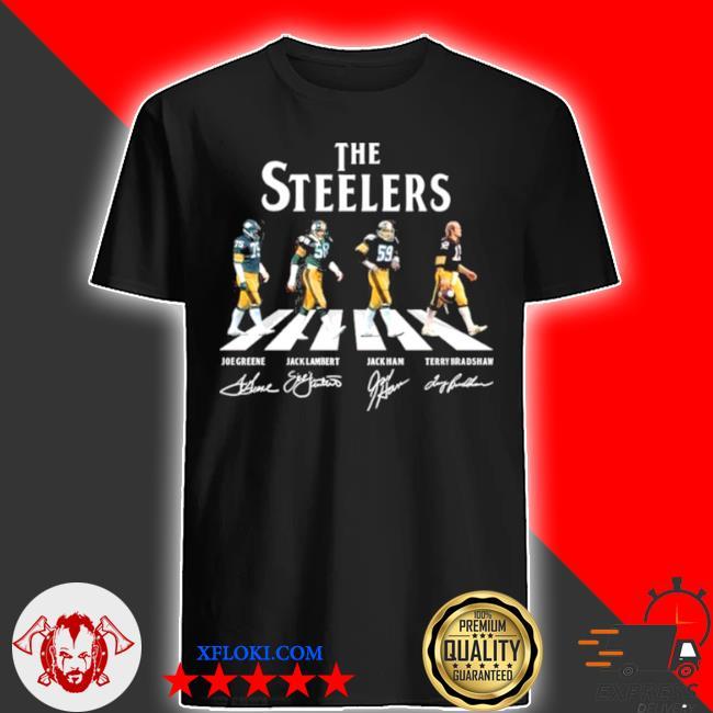 The Steelers Joe greene jack lambert jack ham and terry bradshaw abbey road 2021 signatures shirt