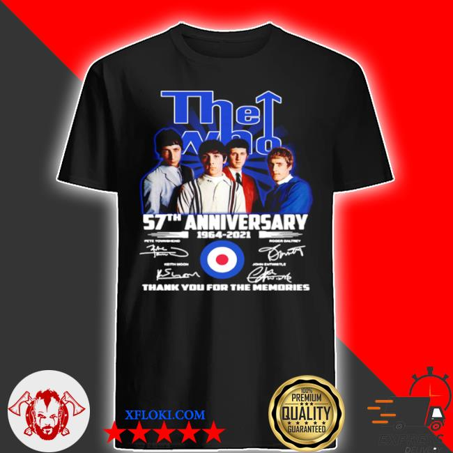 The who 57th anniversary shirt