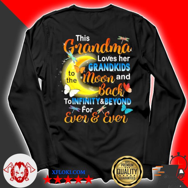 This grandma loves her grandkids to the moon and back s longsleeve