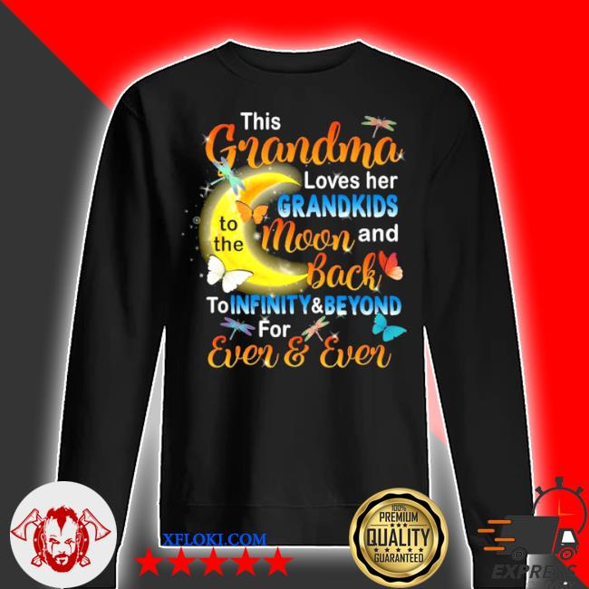 This grandma loves her grandkids to the moon and back s sweater