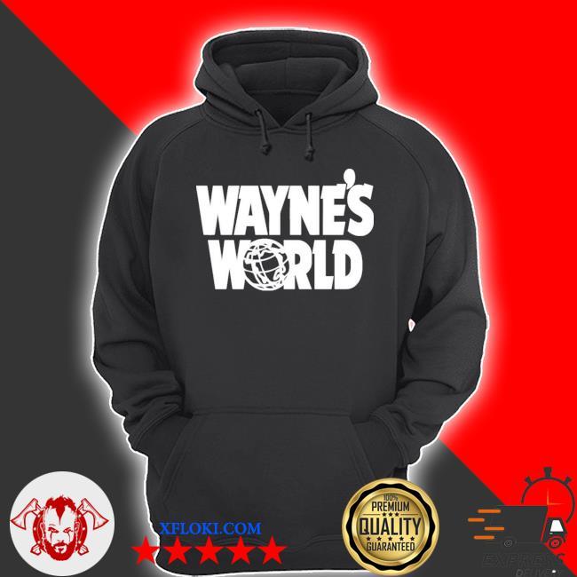 Wayne's world wayne stock retro movie big logo s hoodie