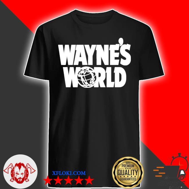 Wayne's world wayne stock retro movie big logo shirt